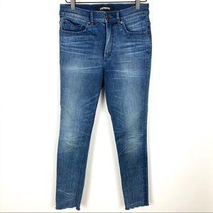 Express | Hi-Rise Raw Hem Legging Stretch Jeans